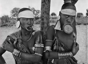 Mursi village of Dargui in Mago National Park, near Jinka, Ethiopia, 2007. Image: © Sebastião Salgado/Amazonas Images/nbpictures